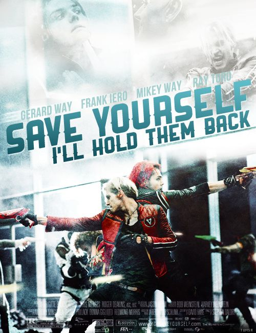 MCR songs as movies: #27 Save Yourself, I'll Hold Them Back. By Tumsa (Tumblr). Gerard Way, Mikey Way. Photos by by Niels Krug.