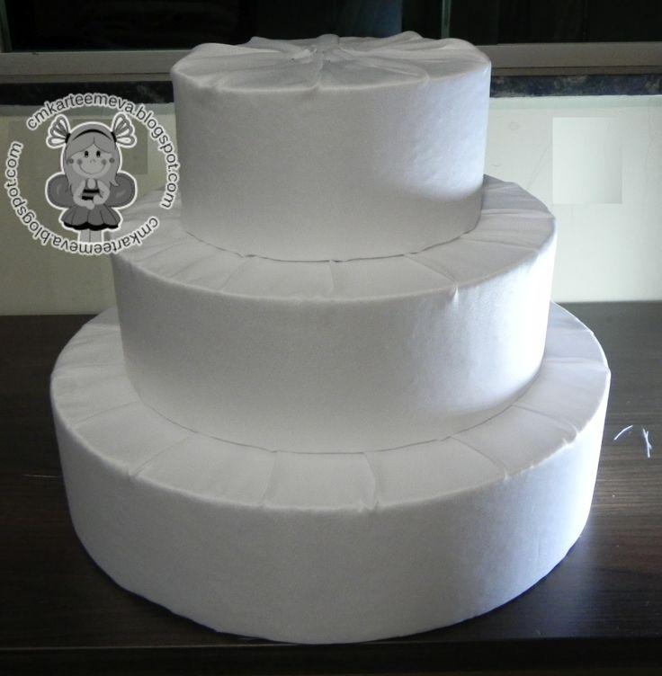 Inspire sua festa » Bolo fake de tecido – Passo a passo                                                                                                                                                                                 Mais