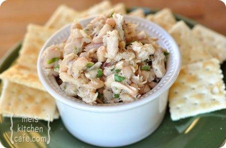 White bean & tuna salad- healthy and easy!
