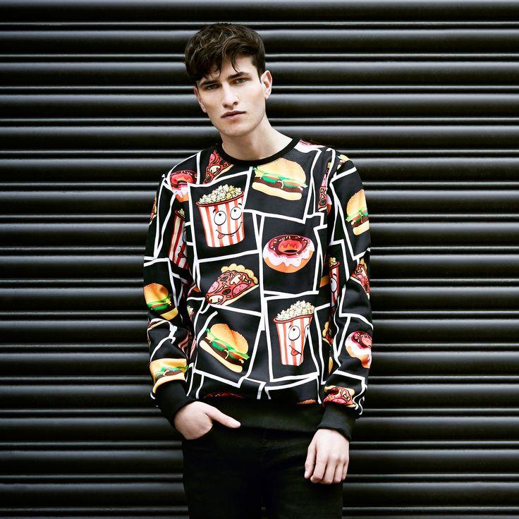 Criminal Damage fast food sweater at Topman