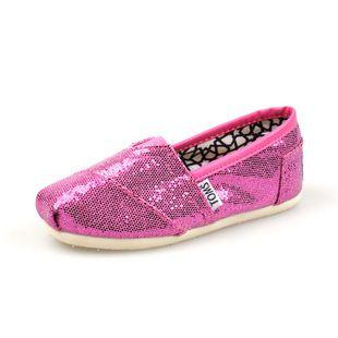 Toms Glitter Women Shoes Rose Pink