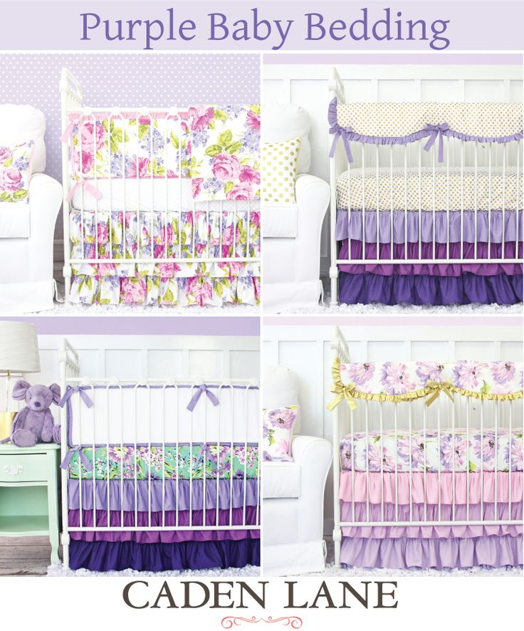Looking for purple baby bedding? Here are some of our most popular purple crib sets click through to take a look at even more!