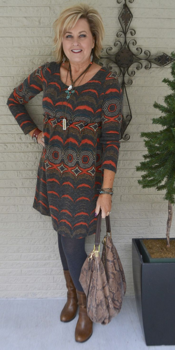 50 IS NOT OLD   YARD SALE FINDS   Tunic   Leggings   Fashion over 40 for the everyday woman