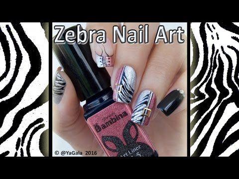 Zebra nail art / Маникюр зебра гель лаками - https://www.youtube.com/watch?v=wYLry3MIWPQ