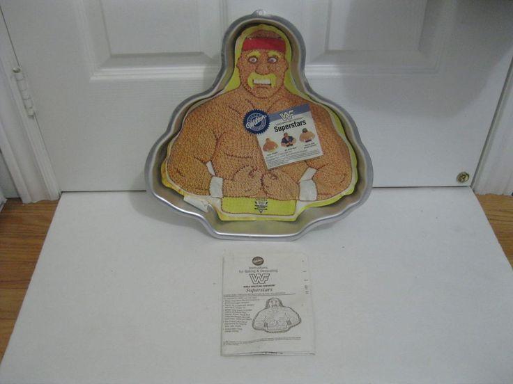 NEW Wilton WRESTLER cake pan WWF SUPERSTARS MACHO MAN BOSS-HULK baking mold tin