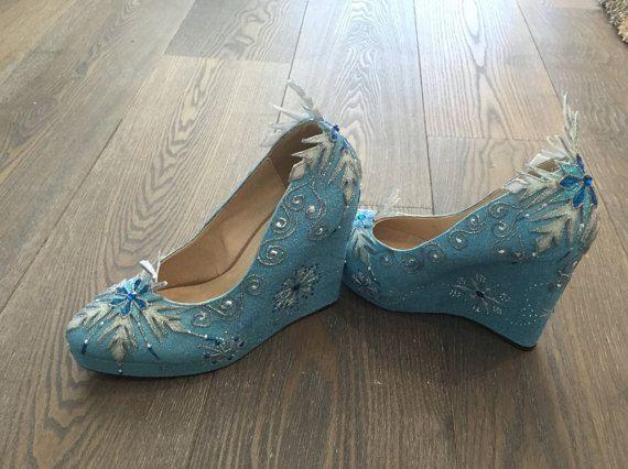 Elsa Wedge Shoes Women Cosplay Inspired by SPLENDIDIMAGINATIONS