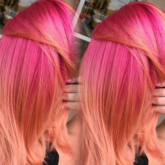 Pink & peach hair                                                                                                                                                                                 More