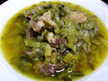 まんまるのイラン料理レシピ セロリのシチュー : 毎日が幸せ食堂 ~シェフにナイショでブログ始めました~