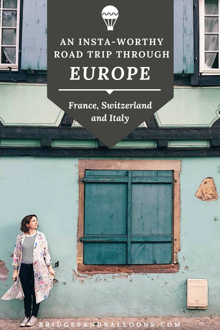 A wanderlust-inducing road trip route through some of the most beautiful destinations in Europe. This itinerary will take you through the most insta-friendly, colorful towns in France, Switzerland and Italy over the course of 10 days (though you could easily expand it to 2 weeks). Passing through towns such as Colmar, Lucerne, Lake Como and Cinque Terre, it's definitely one for the bucket list. Practical tips for travel in Europe. | Bridges and Balloons#Europe