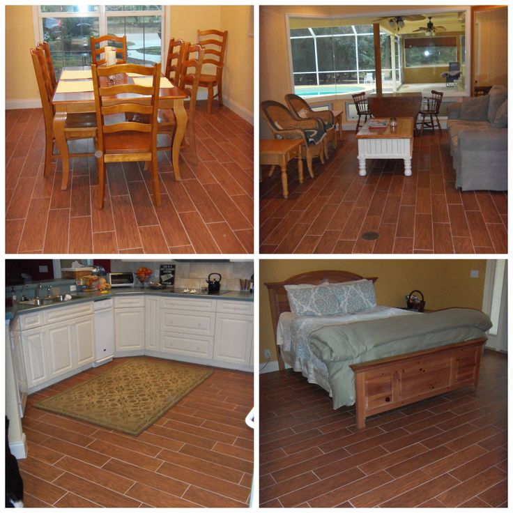 Beautiful Timbertown Hickory Woodlook Tile Installed in