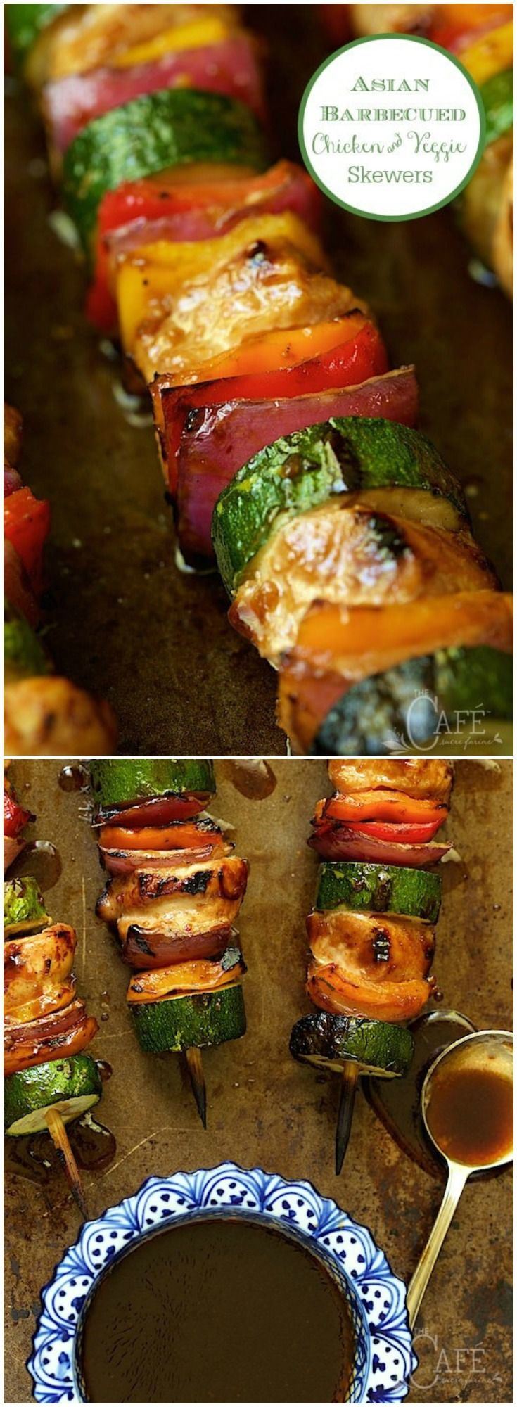 These fun, easy skewers are sweet and sticky, with a touch of heat.  via @cafesucrefarine