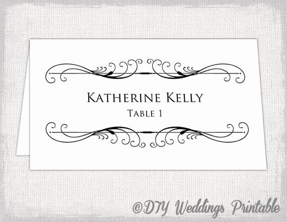 Wedding Name Card Template Best Of Printable Place Card Template Tent Name Card Templates Free Place Card Template Place Card Template Card Templates Printable