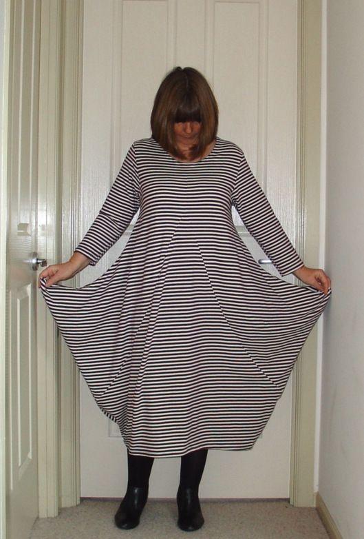 Pattern Reviews> La Mia Boutique Magazine> 07-2009-111 (Striped jersey dress)