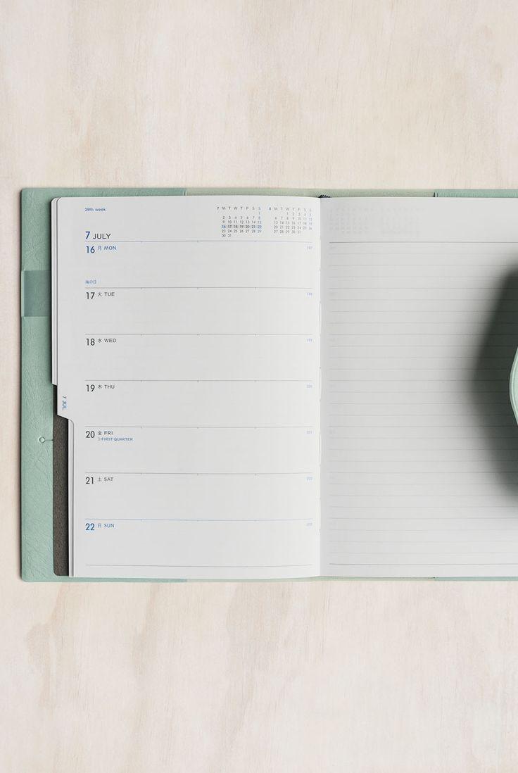 Buy Delfonics - 2018 Manon Diary Notebook - Weekly - B6 (13.3x19cm) - Refillable - Mint - Milligram Stationery. milligram.com