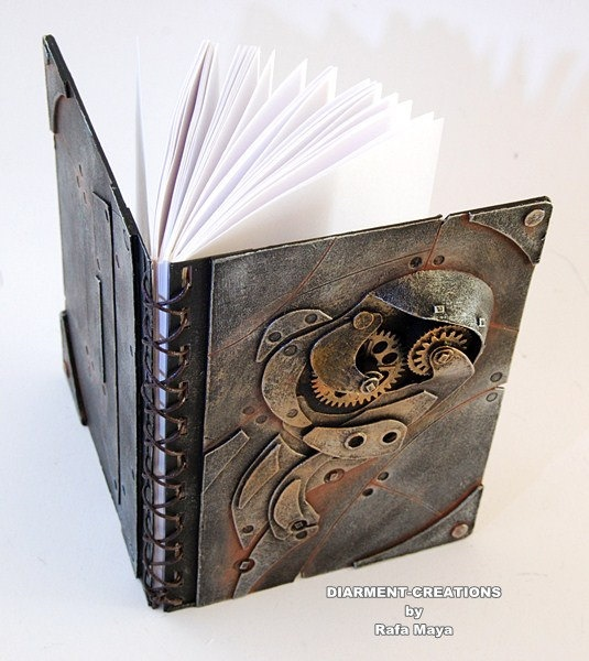 Steampunk Notebook Metal Rust 2 by diarmentcreations on Etsy, $34.00