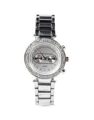 Round Diamanté Watch