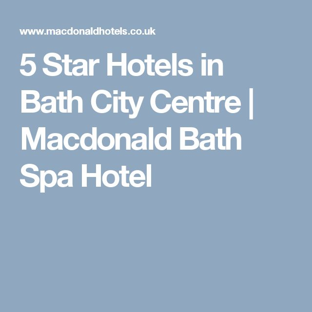 5 Star Hotels in Bath City Centre | Macdonald Bath Spa Hotel