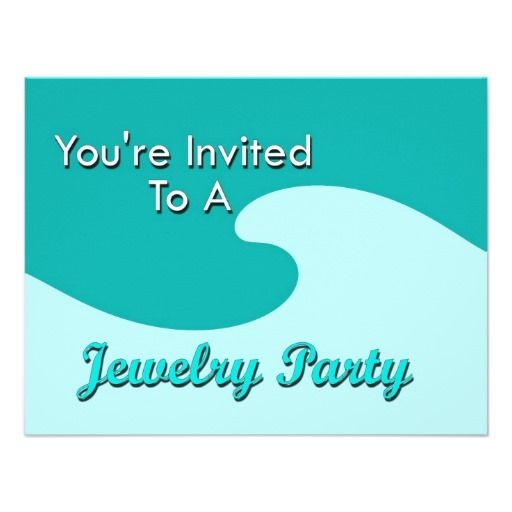 53 best images about Party Invitations – Jewelry Party Invite