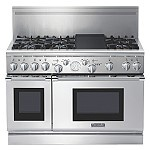 "Item #: PRD486EDPG	   Starting at $10,899.00  Orvilles Home Appliances PRD486EDPG Thermador 48"" Pro-Grand Dual-Fuel Commercial-depth Range - Porcelain Cooktop (PRD486EDPG) Stainless Steel"