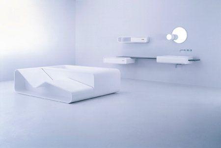 archzine.com - Salle de bain design toute en blanc