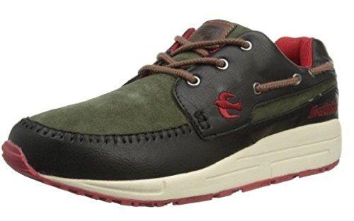 Brakeburn FiveSpoke Schwarz Grün Rot Leder New Herren Sneaker Schuhe Stiefel - http://on-line-kaufen.de/brakeburn/brakeburn-five-spoke-schwarz-gruen-rot-leder-new