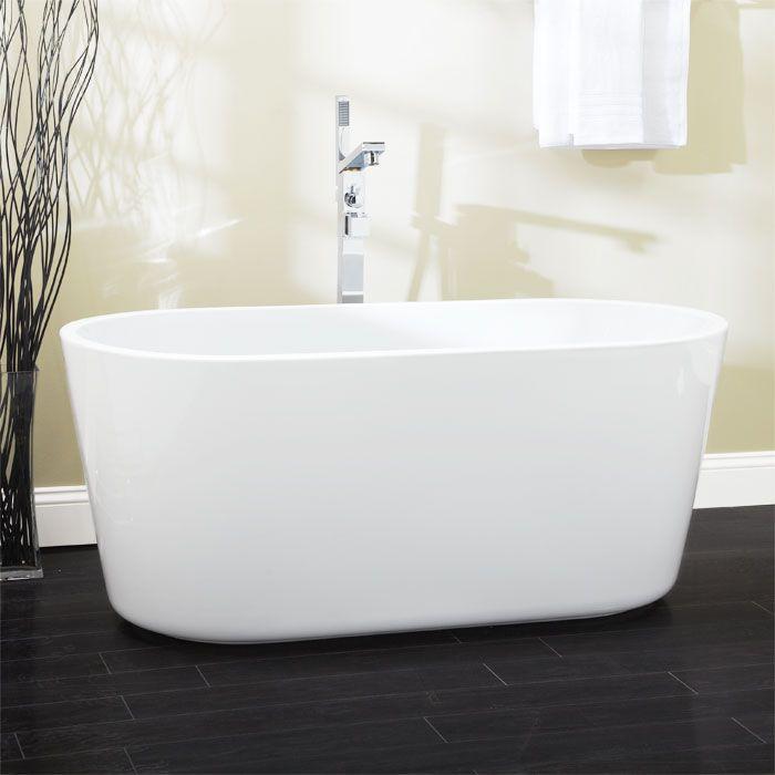 Freestanding Tub With Faucet Holes. 56  Bernardo Freestanding Acrylic Tub Overflow No Faucet Holes Brushed Nickel Drain 96 best Luxuria Hardware Bathtubs images on Pinterest