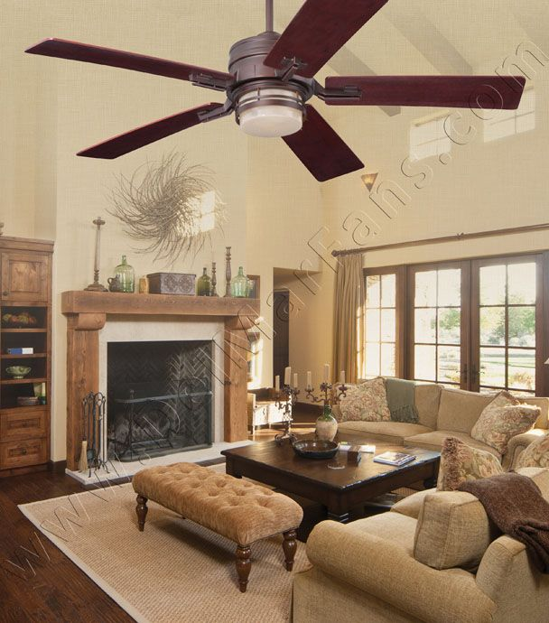 Farmhouse Living Room Future Home Find This Pin And More On Ceiling Fan Ideas