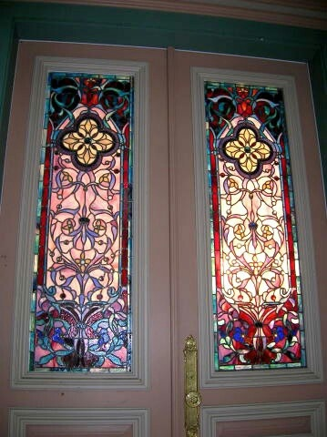 1502 best art stained glass images on pinterest for Victorian stained glass window film