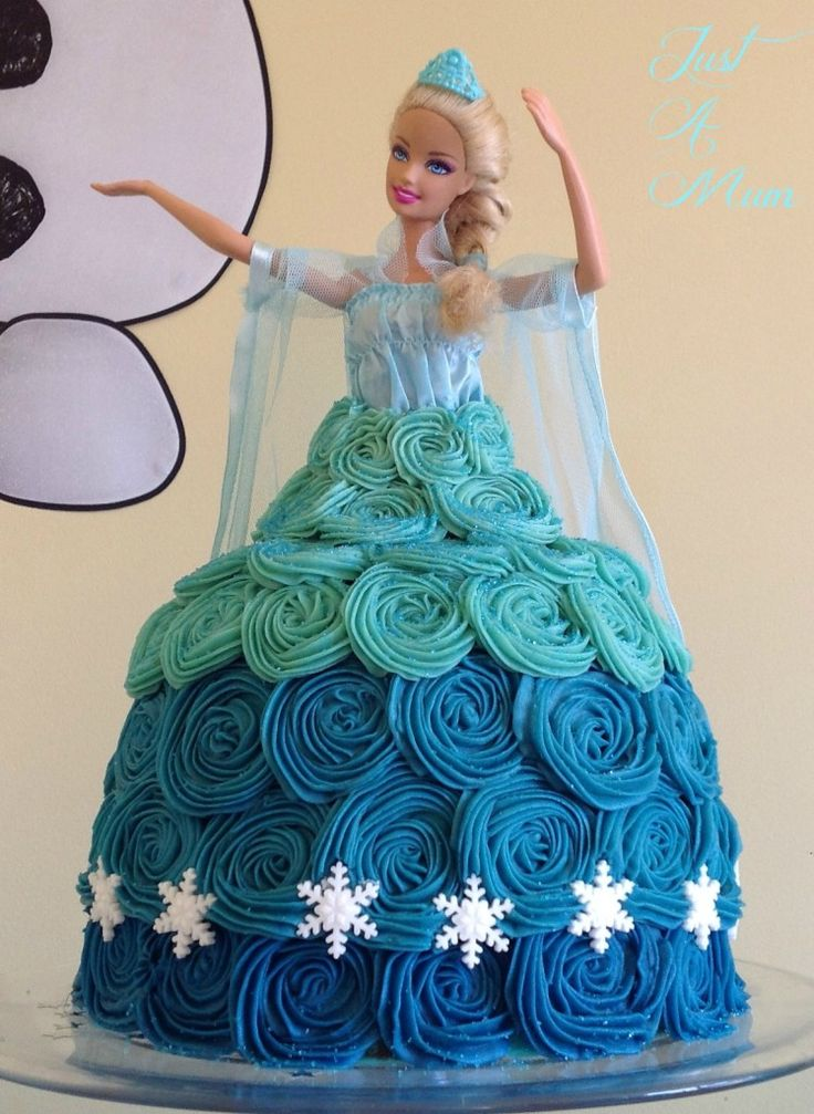 Frozen Barbie Cake Design : Best 25+ Frozen doll cake ideas on Pinterest Elsa ...