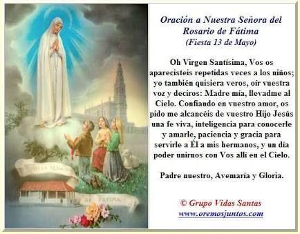 Image result for imagen palabras Virgen de Fatima