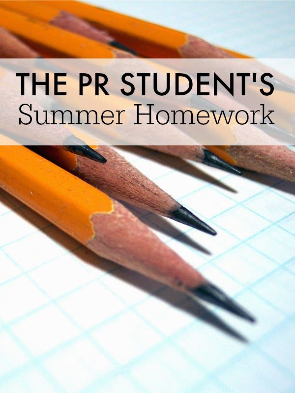 The PR Student's Summer Homework // How to use summer to jump start your career in public relations