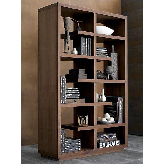 "Elevate Walnut 68"" Bookcase - Crate And Barrel"