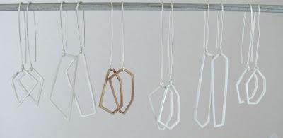 Geometric jewelry - earrings in silver & bronze #geometric #jewelry
