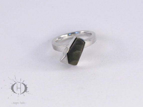 Origami Sterling Silver and Greenstone by ImogenHobbsJewellery