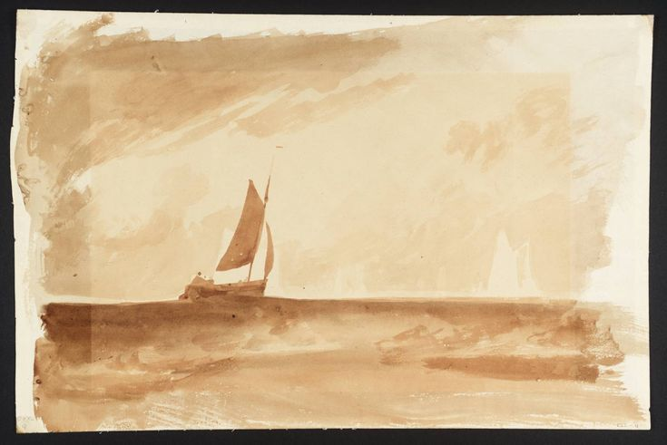 "Joseph Mallord William Turner, ""Bligh Sands: Study után"" Fishing fel a Blythe-Sand, Tide beállítása A 'c.1809"