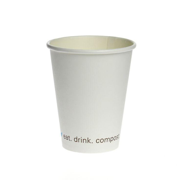 Greenmunch - Hot Cups - Besics - 8oz, $8.89 (http://www.greenmunch.ca/compostable-dinnerware/hot-cups/hot-cups-besics-8oz/)