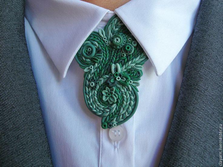 Green handmade polymer clay brooch 'Spring brook' You can buy it! Купить Наяда. Брошь в зеленых тонах (ручная работа, полимерная глина) - зеленая брошь