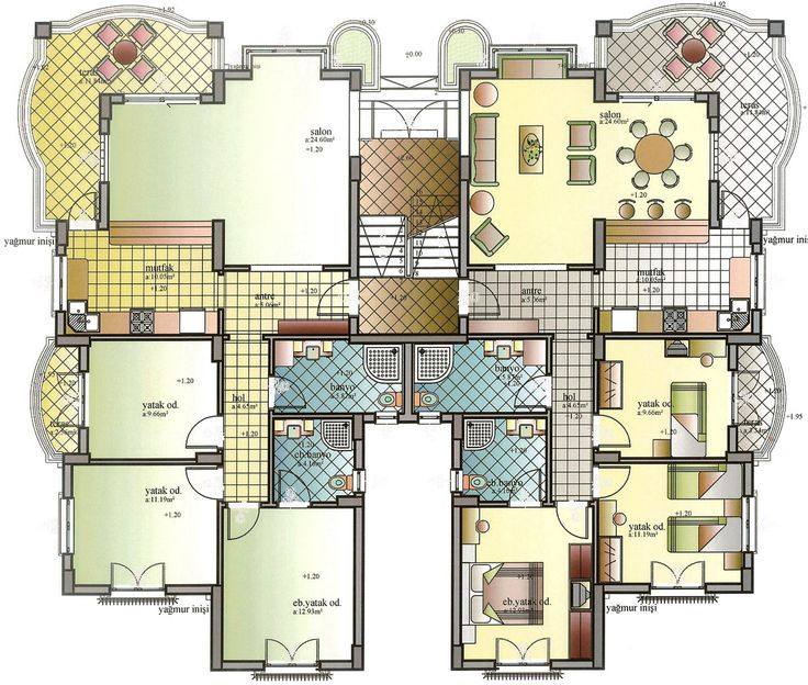 Best Kat Planlari Images On Pinterest Floor Plans