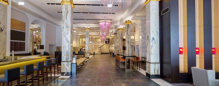 Luxus Hotel Reichshof Hamburg  von JOI-Design   Lobby des erstes europäisches CURIOCollection by Hilton dank des Interior Design Konzepts von JOI-Design. #Hilton #luxushotel #topinnenarchiteckten #welovedesign