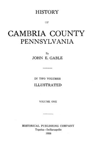 Cambria County PA Genealogy Collection #1 - CD