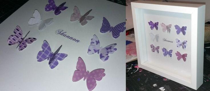 Customised 3D butterflies