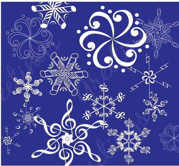 Music Flakes by GreetingsFromLisa on Etsy