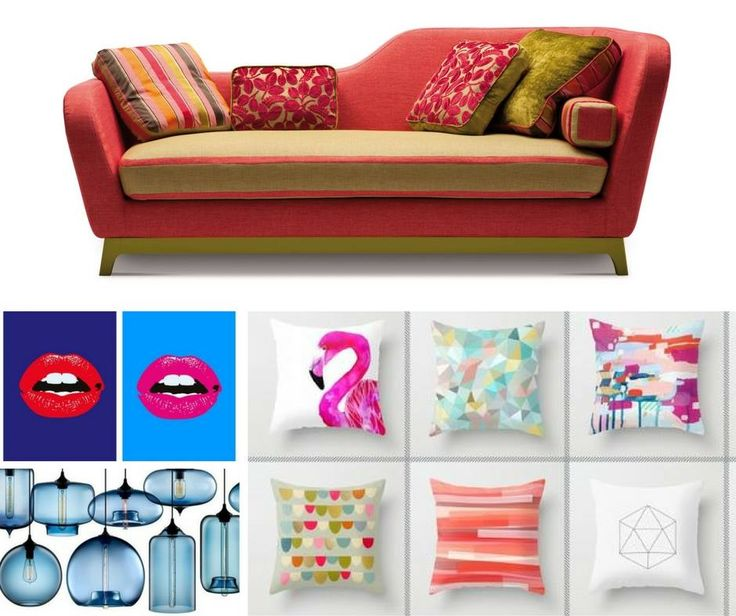 Today tips: for a cheerful and lovely #home, just carefully choose a particular piece of furniture and some colored objects ... and that's it!