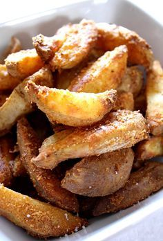 Crispy Cheesy Potato Wedges