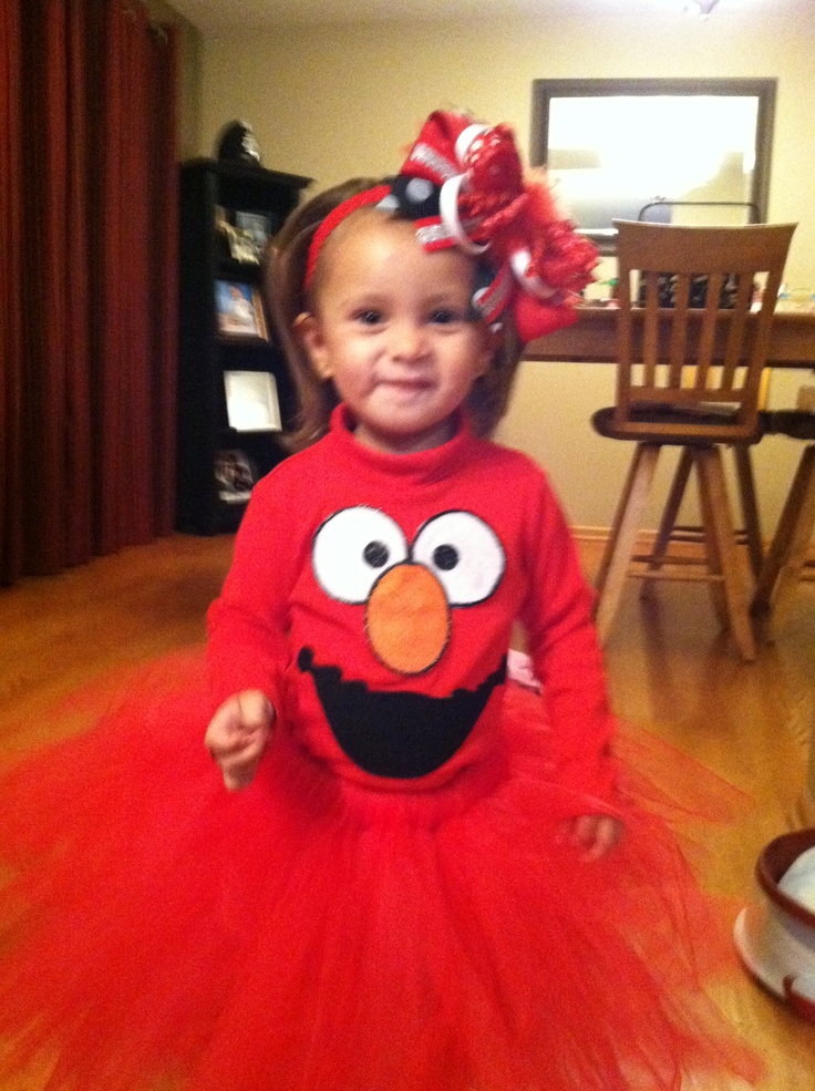 Girls Elmo Costume...So cute!  sc 1 st  Pinterest & 25 best Kinley Halloween images on Pinterest | Costume ideas ...