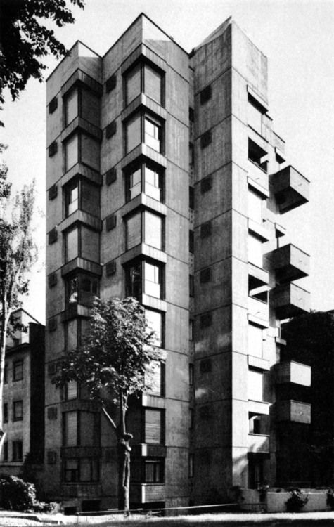 Vico Magistretti - Wohnbebauung Piazzale Aquileia, Mailand  1965