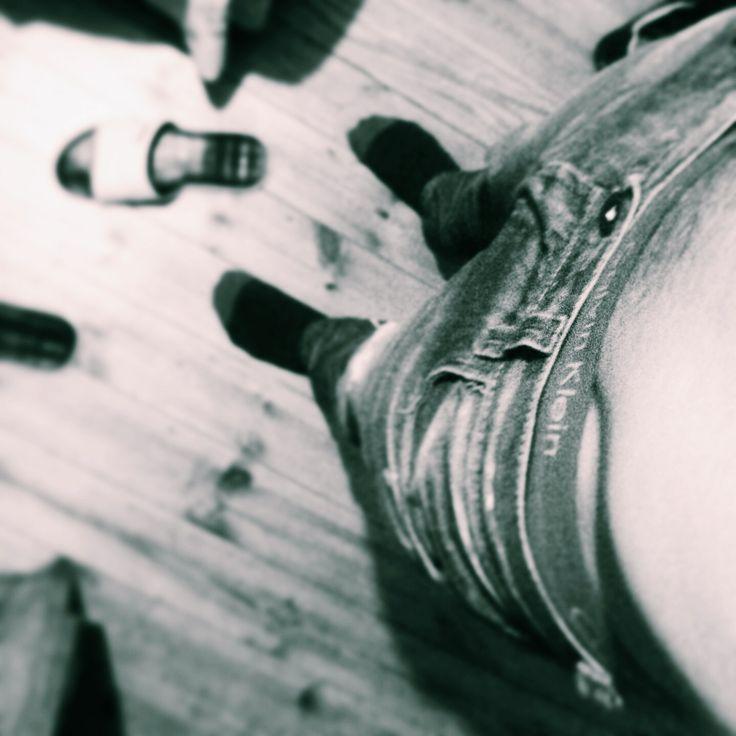 take a look down. #V #Fit #UnderwearModel