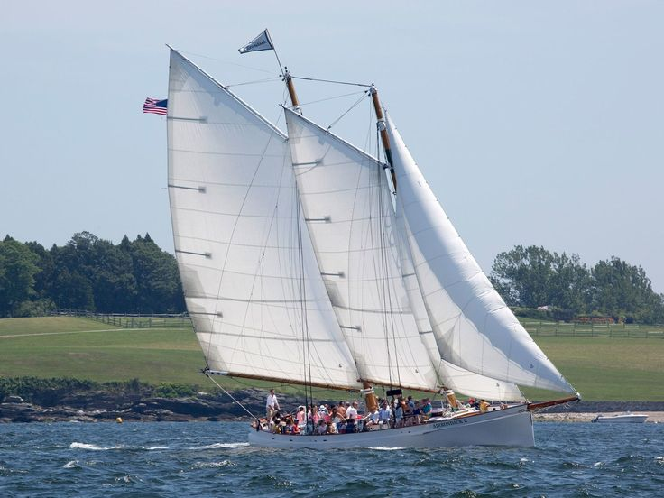 """This turn-of-the-century schooner offers short hosted sails, with mimosas in the morning or dark and stormy cocktails in the evening. The official """"fan boat"""" of Volvo Ocean Race Team Alvimedica—whose skipper, Charlie Enright, was born in Bristol, Rhode Island—the Adirondack II still has some tickets available for on-the-water viewing of departure day."""