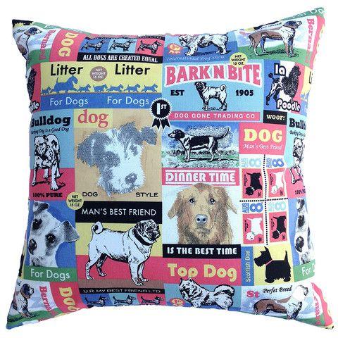 Cushion Cover Vintage Dog Retro 40cm 50cm 60cm 30cm