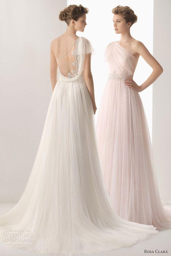 soft by rosa clara 2014 wedding dresses umbra one shoulder gown lace back detail